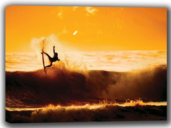 Surfer at Sunset. Surf/Surfer Canvas. Sizes: A4/A3/A2/A1 (002265)